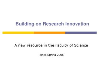 Building on Research Innovation