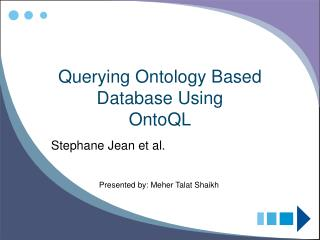 Querying Ontology Based Database Using OntoQL