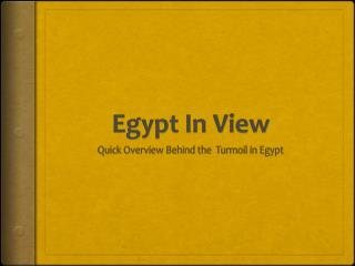 Egypt In View