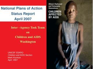Inter  Agency Task Team on Children and AIDS Washington