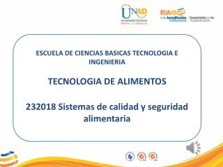 ESCUELA DE CIENCIAS BASICAS TECNOLOGIA E INGENIERIA  TECNOLOGIA DE ALIMENTOS