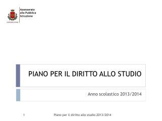 PIANO PER IL DIRITTO ALLO STUDIO