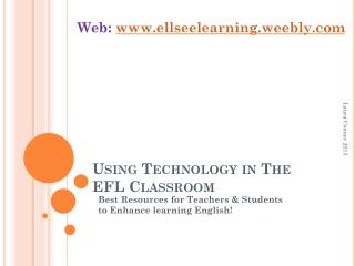 Using Technology in The EFL Classroom