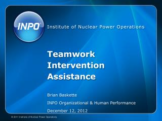 Teamwork Intervention Assistance