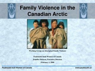 Family Violence in the Canadian Arctic