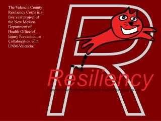 Resiliency: The ability to recovery from challenges and be safe, healthy, and successful.