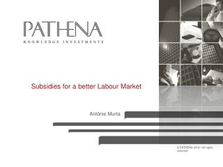 Subsidies for a better Labour Market