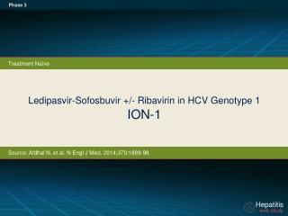 Ledipasvir-Sofosbuvir +/- Ribavirin in HCV Genotype 1 ION-1