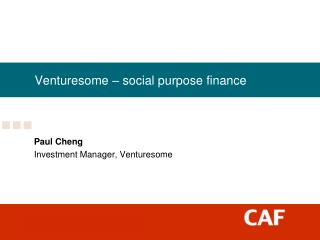 Venturesome – social purpose finance