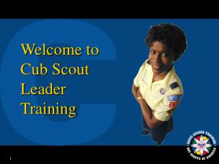Welcome to Cub Scout Leader Training