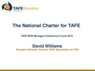 The National Charter for TAFE
