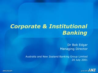 Corporate & Institutional Banking