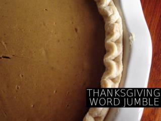 Can you unscramble these Thanksgiving words?
