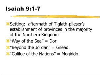 Isaiah 9:1-7