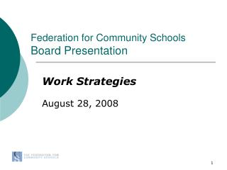 Federation for Community Schools Board Presentation