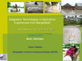 Expert Meeting on Technology Road Maps