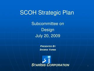 SCOH Strategic Plan