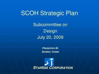 SCOH Strategic Plan
