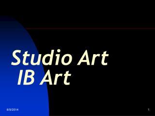 Studio Art   IB Art