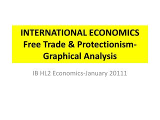 INTERNATIONAL ECONOMICS Free Trade & Protectionism-Graphical Analysis