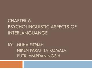 What is psycholinguistics?