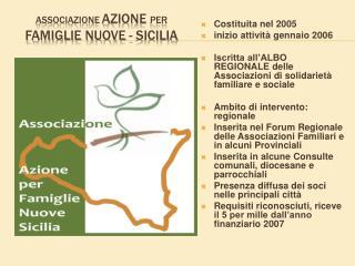 Associazione  Azione  per  Famiglie Nuove - Sicilia