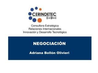 NEGOCIACIÓN Adriana Bollón Olivieri