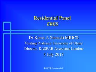 Residential Panel ERES