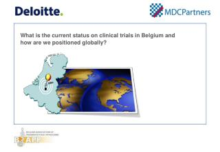 What is the current status on clinical trials in Belgium and how are we positioned globally?