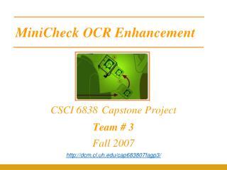 MiniCheck OCR Enhancement