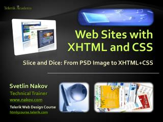 Web Sites with  XHTML and CSS