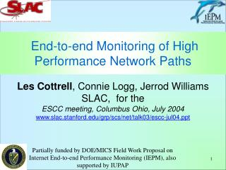 End-to-end Monitoring of High Performance Network Paths