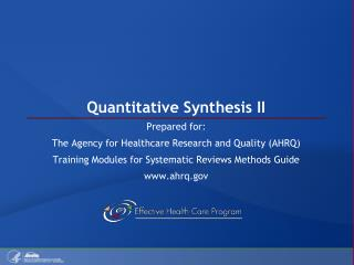 Quantitative Synthesis II