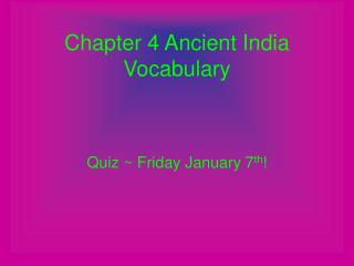 Chapter 4 Ancient India Vocabulary