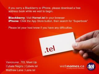 Vancouver .TEL Meet Up Cybele Negris | Cybele.tel Matthew Lane | Lane.tel