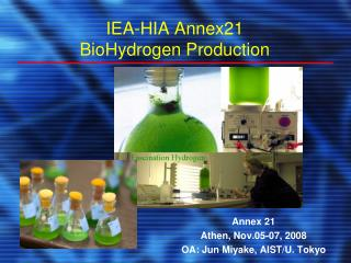 IEA-HIA Annex21 BioHydrogen Production
