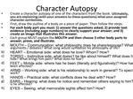 Character Autopsy