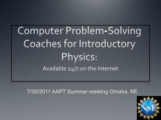 Computer Problem-Solving Coaches for Introductory Physics: