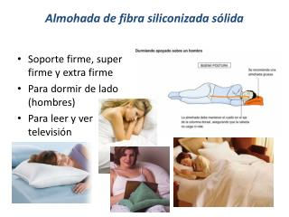 Almohada de fibra siliconizada s�lida
