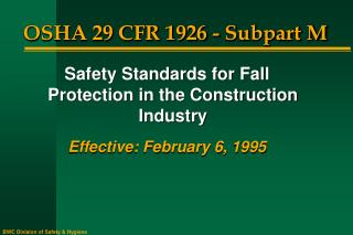 OSHA 29 CFR 1926 - Subpart M