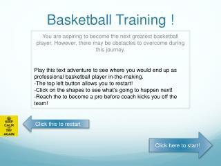 Basketball Training !