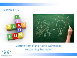 Getting from Stand Alone Workshops  to Learning Strategies
