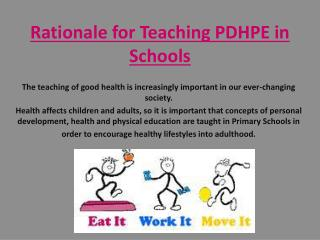 Rationale for Teaching PDHPE in Schools