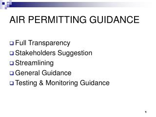 AIR PERMITTING GUIDANCE