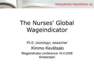The Nurses' Global Wageindicator