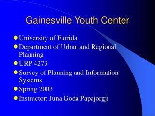 Gainesville Youth Center