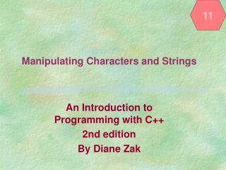 Manipulating Characters and Strings
