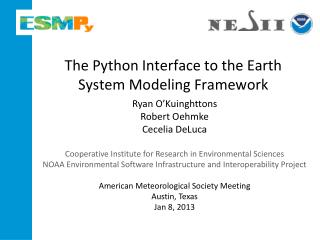 The Python Interface to the Earth System Modeling Framework