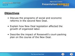 Discuss the programs of social and economic reforms in the second New Deal.
