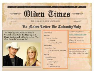 La News Letter De CalamityValy